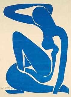 Matisse Blue nude  (mi ricorda un invalido, un pappagallo, un grosso neo e i tropici)