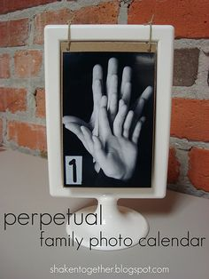 repurposing the $1 Tolsby ikea picture frame into a perpetual calendar, a flip for every month!