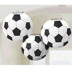 50% OFF: Soccer Hanging Lanterns - 3 Pk Party Supplies Canada - Open A Party