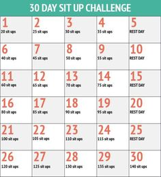 30 day sit up