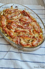 Simply Food: Piersi z kurczaka zapiekane na młodej kapuście Aga, Ratatouille, Food Inspiration, Quiche, Cabbage, Spaghetti, Food And Drink, Menu, Cooking Recipes
