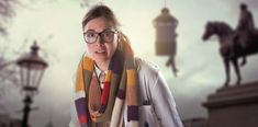 Petronella Osgood was an enthusiastic young scientist who worked for UNIT. Her dedication to her work was second only to her devotion to the Doctor Kate Stewart, Doctor Who Logo, British Broadcasting Corporation, Watch Doctor, Bbc America, Dalek, Long Scarf, Comedians