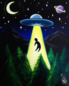 hippie painting ideas 805018502126599671 - Painting with a Twist Source by Simple Canvas Paintings, Small Canvas Art, Cute Paintings, Mini Canvas Art, Acrylic Painting Canvas, Creepy Paintings, Pintura Hippie, Alien Painting, Trippy Painting