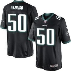"$23.88 at ""MaryJersey"" (maryjerseyelway@gmail.com) Nike Eagles 50 Kiko Alonso Black Alternate Men Stitched NFL New Limited Jersey"