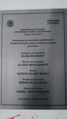UNIFESP Guarulhos/ BR 04/2017