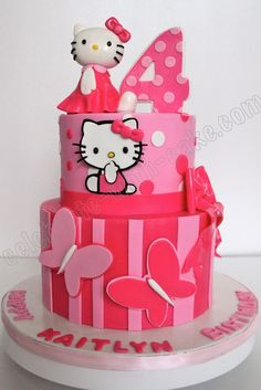 Celebrate with Cake!: Hello Kitty Cake. My daughter would kill for this cake.