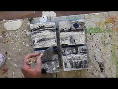 In this video Elizabeth will demonstrate how to adhere paper to an encaustic painting using a heated iron, hot plate and scraper.