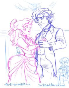 WIP Sketchfor an upcoming chapter ofThe Valiard Mansion. :) Read the story here!
