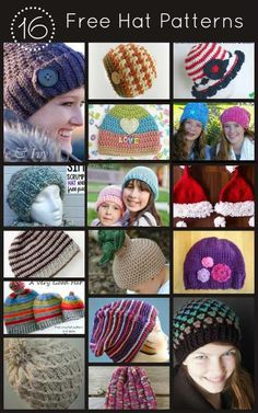 16 Hat Patterns for Knit and Crochet   Knitting and Crochet Patterns FiberArtsy.com