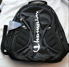 NEW Champion Classic Student Black Backpack 4 Pocket Padded Straps Large  #Champion #Backpack