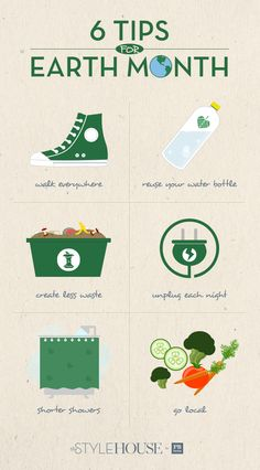6 tips to staying green on campus for earth month