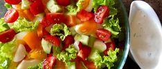 Sałatka warzywna Fruit Salad, Cobb Salad, Guacamole, Salad Recipes, Grilling, Food And Drink, Menu, Ethnic Recipes, Blog