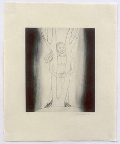 Louise Bourgeois. Embracing the Tree.