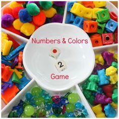 Números y colores, un juego con cuadrícula