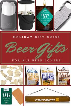 Whether you have someone on your gift list who loves craft beer or   you're buying for a serious homebrewer- I've found the beer gifts for   them! Gifts For Beer Lovers, Beer Gifts, All Beer, Best Beer, Beer Soap, Beer Bread, Bottle Cap Crafts, Gift List, Holiday Gift Guide
