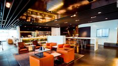 Frankfurt Airport, Germany | Airport lounge | Contract furniture #airportlounge #contractfurniture Read more at: https://www.brabbu.com/en/projects/