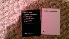 "Good card to play for your friend who is afraid of flying. | 24 Times ""Cards Against Humanity"" Was Too Real"