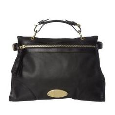 @Overstock - This black leather Taylor satchel from Mulberry is styled with a zippered front opening and a zippered back pocket. A single top handle and a removable cross-body strap offer variety in carrying style of this fashionable designer bag.http://www.overstock.com/Clothing-Shoes/Mulberry-Taylor-Black-Leather-Satchel/6818209/product.html?CID=214117 $1,179.99