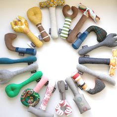 Baby Boy Rattles - Tool Set - I want to make a fabric hammer... the wooden one is too noisy/ lethal!