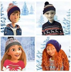 Dennis(brown hair) is Hank(black sweater)is Lolo(blonde hair) is 16 lolly is They all love winter. Must be adopted together. Disney Fan Art, Disney Fun, Disney Movies, Disney Crossovers, Cartoon Crossovers, Jelsa, Disney And Dreamworks, Disney Pixar, Dennis Brown