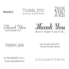 Lots of Thanks #129690 in Clear $16.95 for 9 stamps