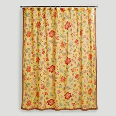 Chapel Hill Shower Curtain Rosalita. Marigold Fabric, 100% Cotton, Shower  Curtain From World Market. Another That Is
