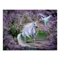 Spring Unicorn fantasy Poster - Everybody loves Unicorns...
