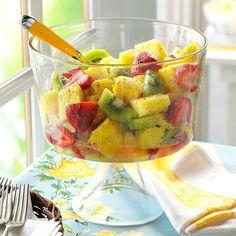 Best Fruit Salad, Fruit Salad Recipes, Fruit Salads, Fruit Dishes, Dressings, Balsamic Green Beans, Strawberry Vinegar, Creamy Pasta Salads, Potluck Salad