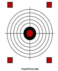 Smallbore 22 Caliber Rifle Targets Download and Print 11 x ...