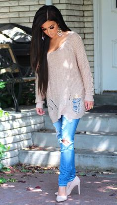 i like the sweater, i don't know about the jeans though.
