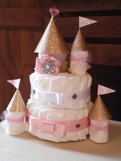 Diaper cake baby shower princess