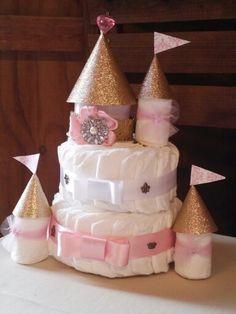Diaper cake baby shower princess