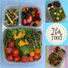 Fish Food from 'Biting the hand that feeds you'...For more creative ideas for school lunches visit https://www.facebook.com/SchoolLunchIdeas
