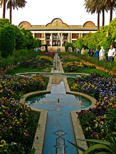 walking gardens surrounding city Iran Shiraz. Eram Garden. I love Eram garden. Seen it twice.