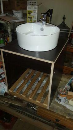 Mueble para bacha de baño flotante
