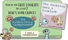 """Lots of Pigeon & duckling fun on Mo Willems' website, including a """"Duckling Gets a Cookie"""" event kit!"""