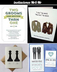 invitaciones boda gay