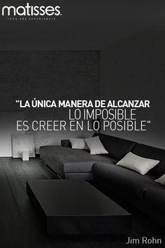 """#FraseDelDía: """"La única manera de alcanzar lo imposible es creer en lo posible"""" Jim Rohn"""