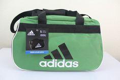 """adidas diablo small duffel sport gym bag green 18.5"""" x 11"""" x 10"""" luggage #adidas #diablo #duffel #gym #bag #luggage"""
