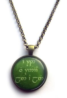 The Road Goes Ever On and On Necklace - Elvish Jewelry - The Hobbit Necklace on Etsy, £12.70