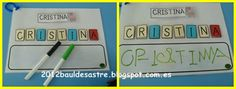 Aprendemos a escribir nuestro nombre Activity Games, Activities, Alphabet Words, Name Games, Learning Letters, Mark Making, Word Work, Ideas Para, Literacy