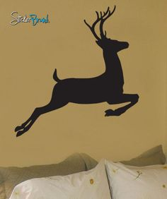 Vinyl Wall Decal Sticker Deer Jumping #199
