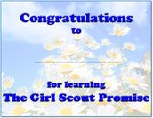 Certificate for learning  the Girl Scout Promise