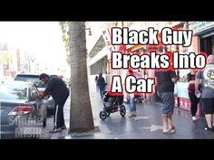 White Guy Breaks Into A Car/Black Guy Breaks Into A Car - WOW.