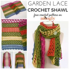 Garden Lace Shawl - free crochet pattern on Mooglyblog.com! Perfect for Mother's Day, Prayer Shawl, Gifts, Weddings, and More!