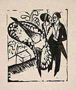 Fling dance - Ernst Ludwig Kirchner 1912  www.artexperiencenyc.com