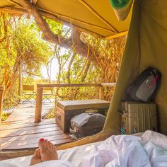 """Shannon Wild on Instagram: """"Missing this place ... Oddballs' in the Okavango Delta, Botswana thanks to @lodgesofbotswana #oddballs #Africa #Botswana #okavangodelta #Okavango #camp #camping #tent #thinktankphoto #explorercases #toes #outdoors #travel #adventure #shannonwild"""""""