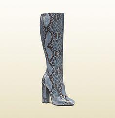 Python Horsebit Knee Boot