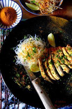 Escalope de dinde marinée à l'indienne Grill Pan, Casserole Dishes, Barbecue, Grilling, Turkey, Diet, Cooking, Ethnic Recipes, Kitchen