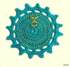 Mandala 14. Mystics and World Changers. Crochet Art Mandala with Golden Threads//The Mandala Project by Alice Fate//Handmade Visit www.alicefate.com/mandala-project to learn more.